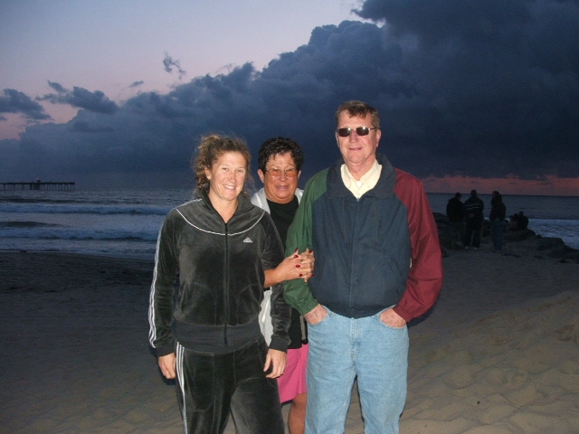Marshall Jaeger with his wife and daughter