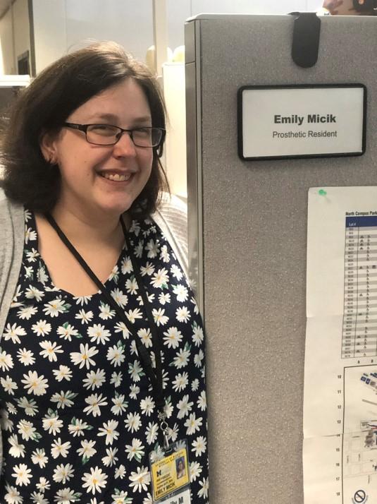 Emily Micik, Prosthetic Resident