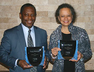 Lori Pierce & Tony Denton honored by United Way