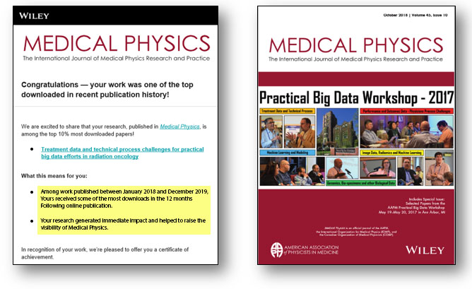 Medical Physics top 10% research