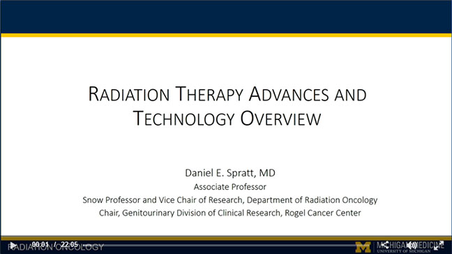 Radiation therapy advances