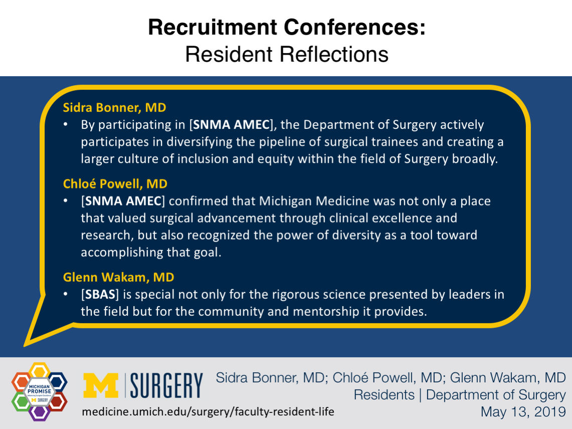 Visual Abstract for Recruitment Conferences: Resident Reflections
