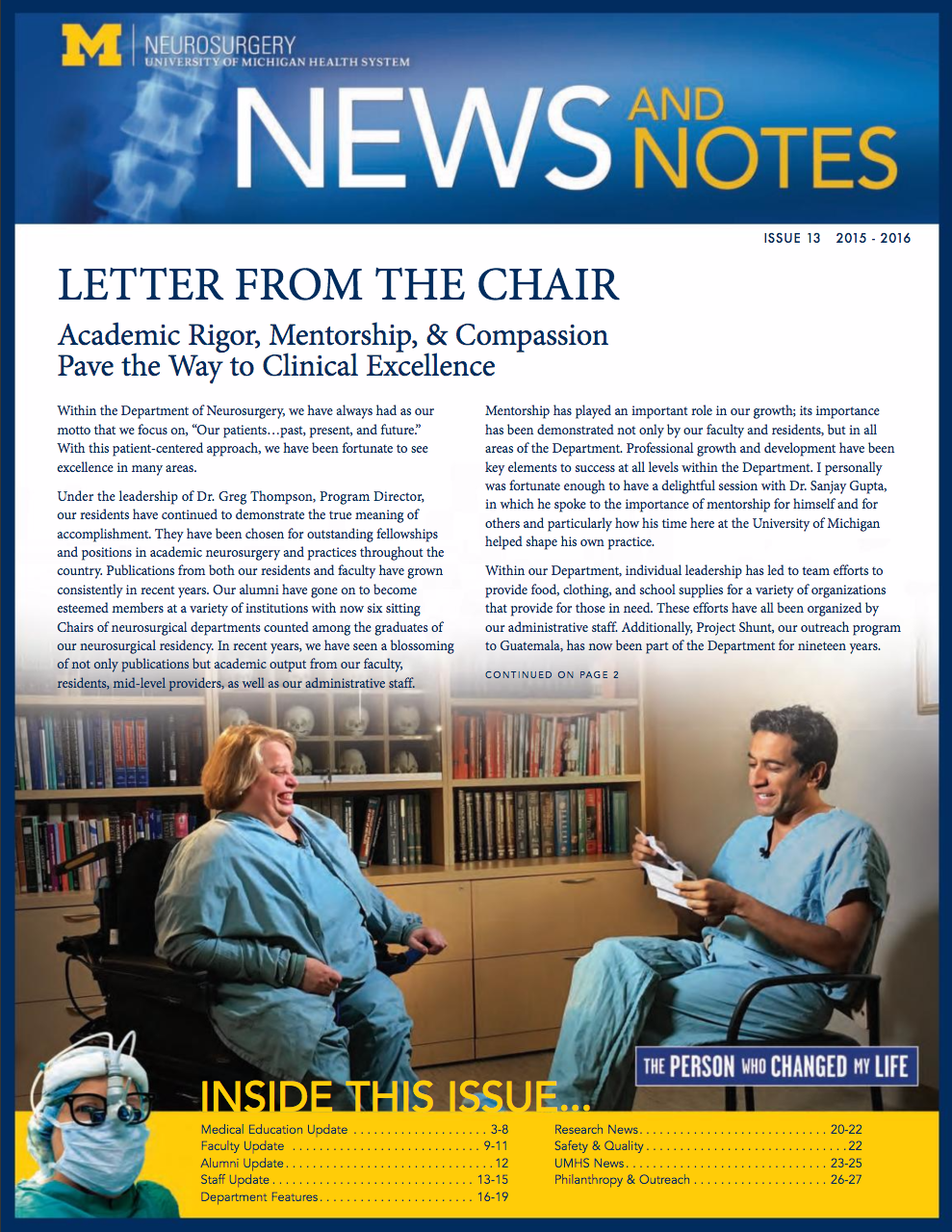 Neurosurgery Newsletter 2016