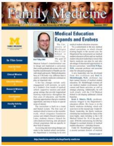 Family Medicine Newsletter Cover - Summer 2017