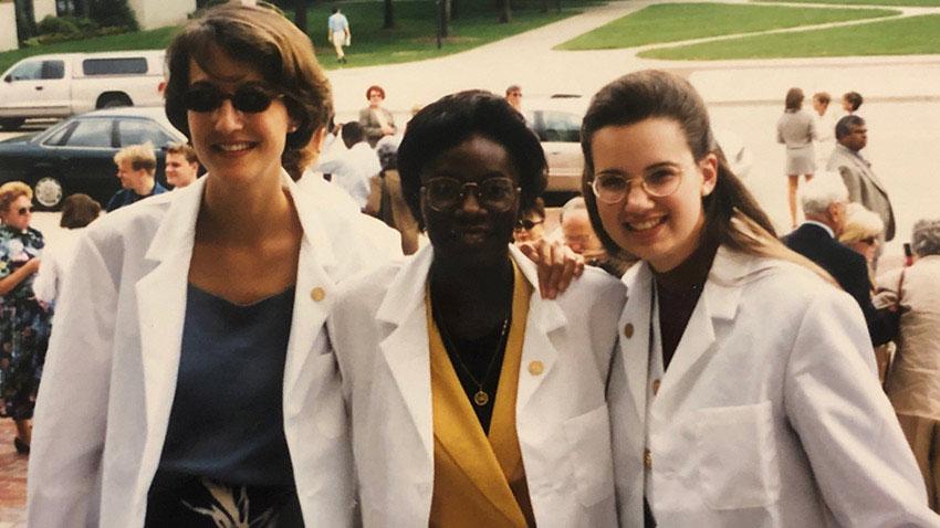 Dr. Susan Moore white coat ceremony