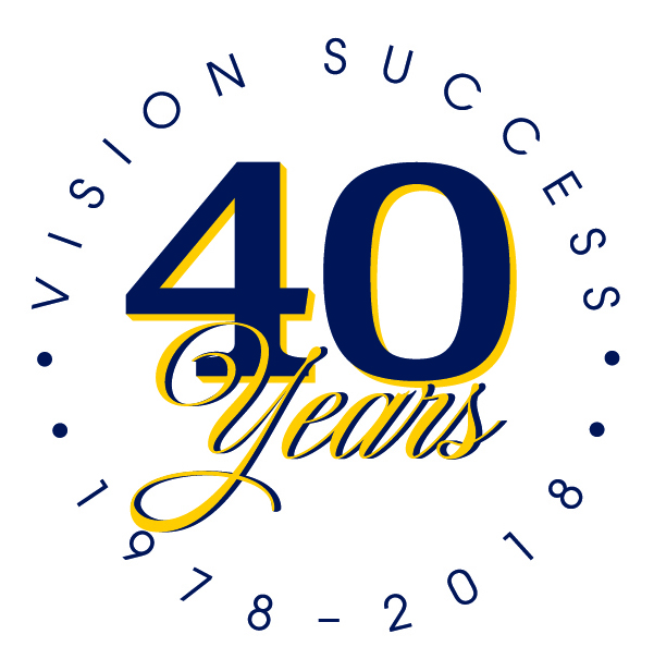 Department of Family Medicine 40th Anniversary Logo: Vision Success 40 Years 1978-2018