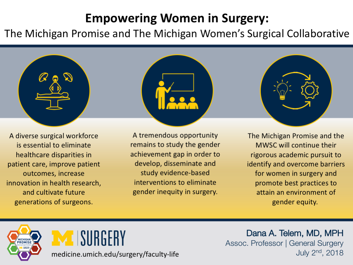 Visual Abstract on Dr. Telem's blog post on Empowering Women in Surgery