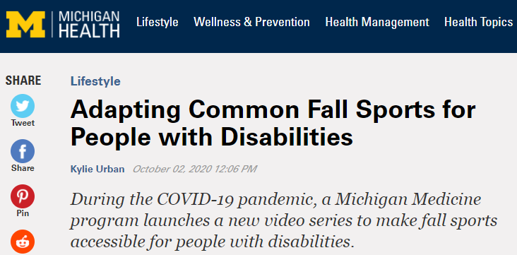 screen grab of blog post by michigan health blog about umaise program