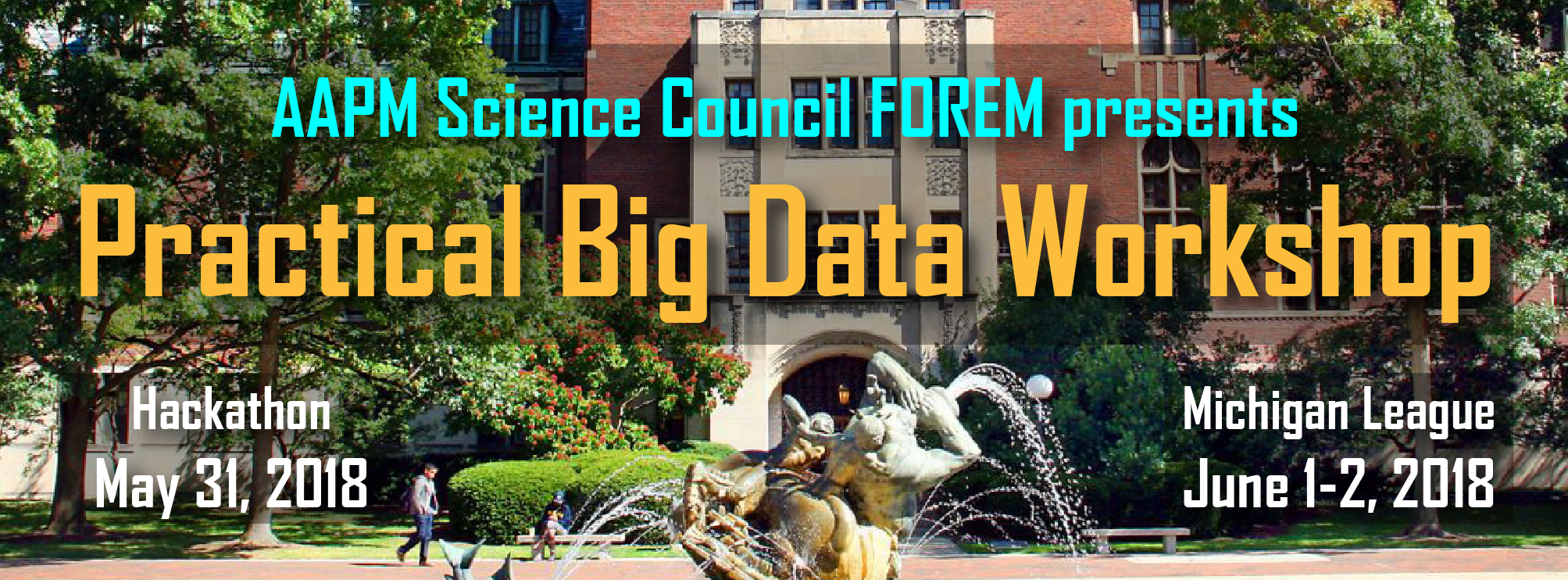 2018 AAPM Practical Big Data Workshop
