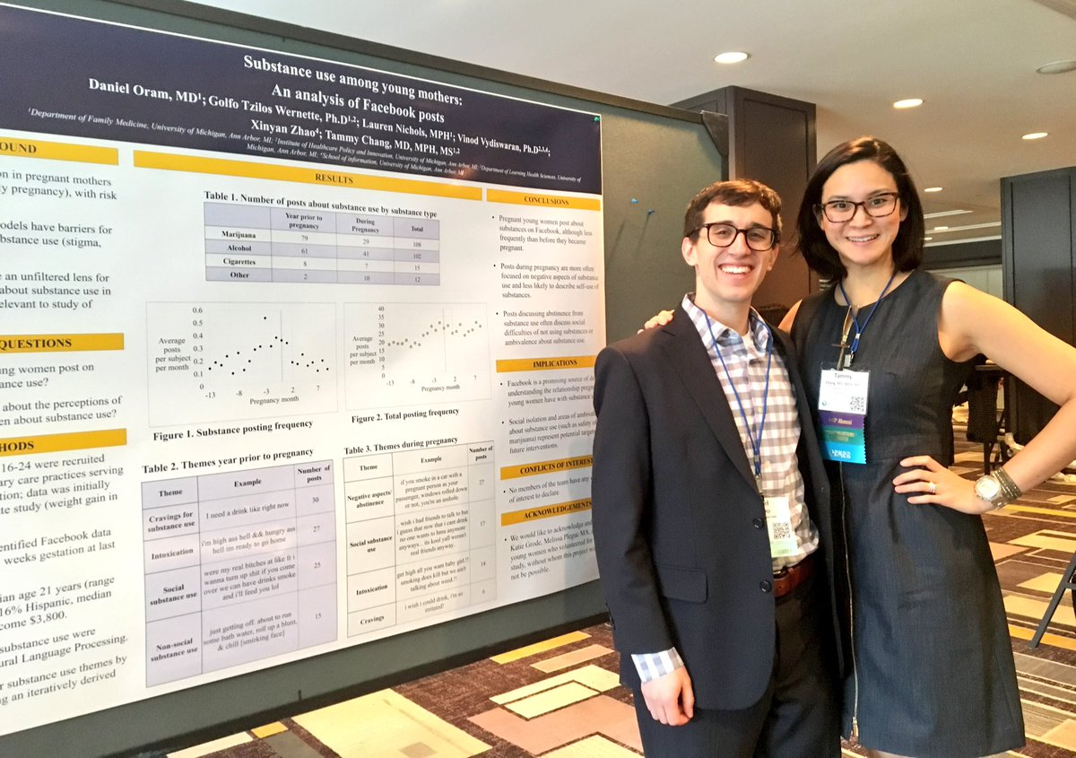 Daniel Oram MD and Tammy Chang MD at 2017 NAPCRG meeting