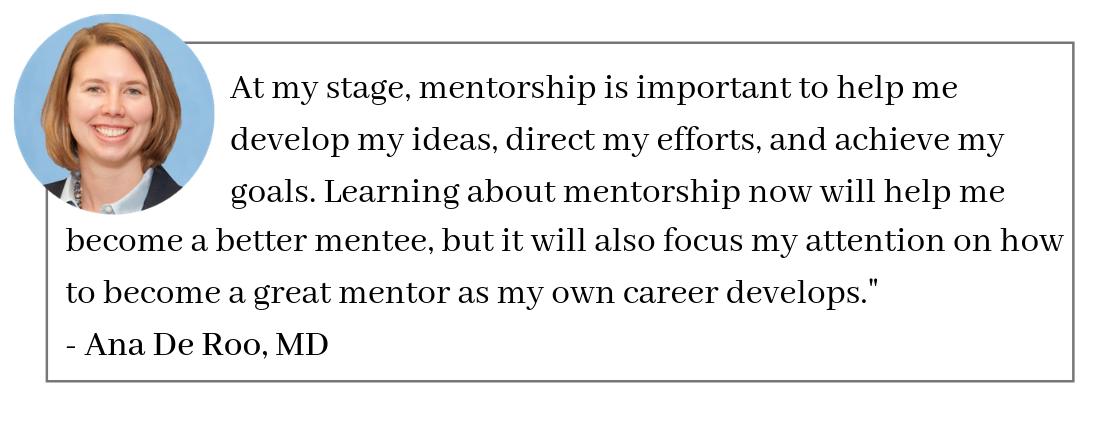 Ana De Roo, MD Mentorship Quote