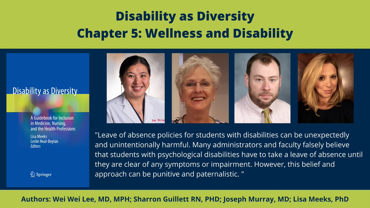 Disability as Diversity Chapter 5: Wellness and Disability: Leave of absence policies for students with disabilities can be unexpectedly and unintentionally harmful. Many administrators and faculty falsely believe that students with psychological disabili