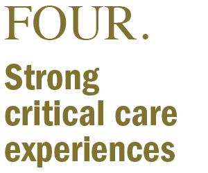Strong critical care experiences
