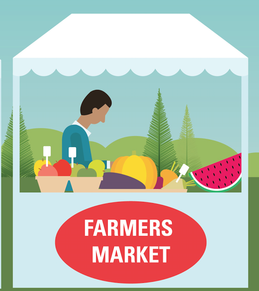 farmers market stand graphic