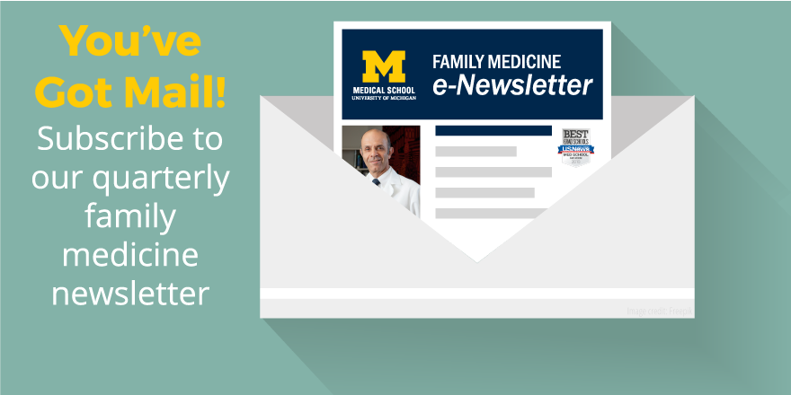 Sign up for the department of family medicine email newsletter