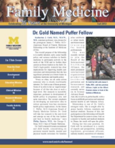 Family Med Newsletter: Fall 2013
