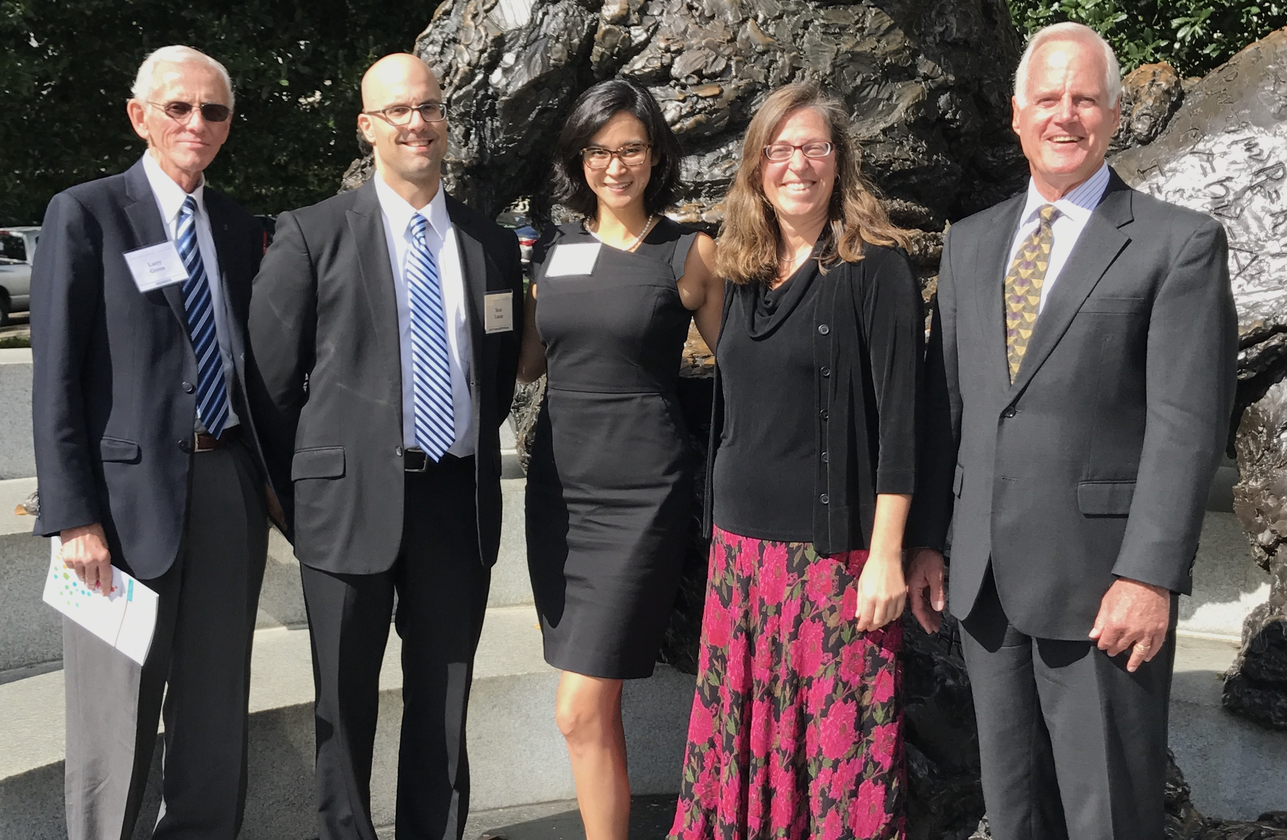 Tammy Chang MD pictured with James Puffer, Larry Green, Sean Lucan and Jennifer Devoe