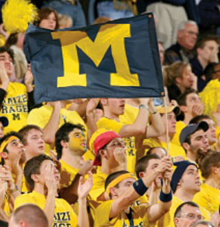 Pic of U-M Football fans