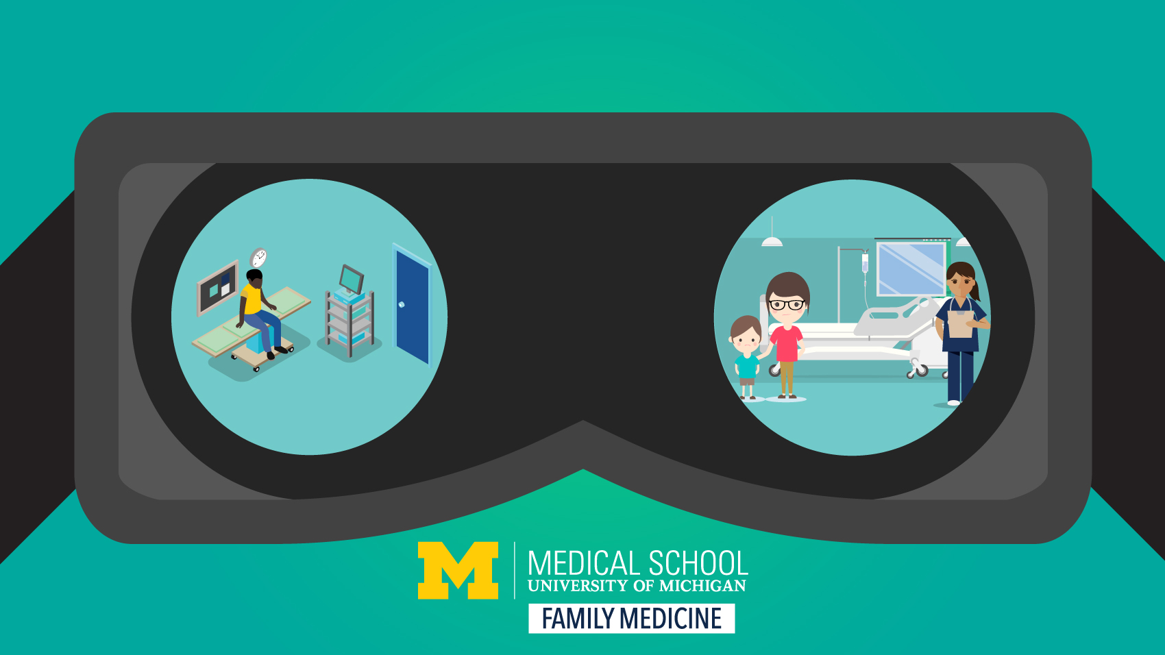 image of virtual reality goggles viewing medical scenes