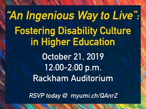 """An Ingenious Way to Live"": Fostering Disability Culture in Higher Education"