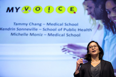 lede image of tammy chang presenting myvoice at mcubed