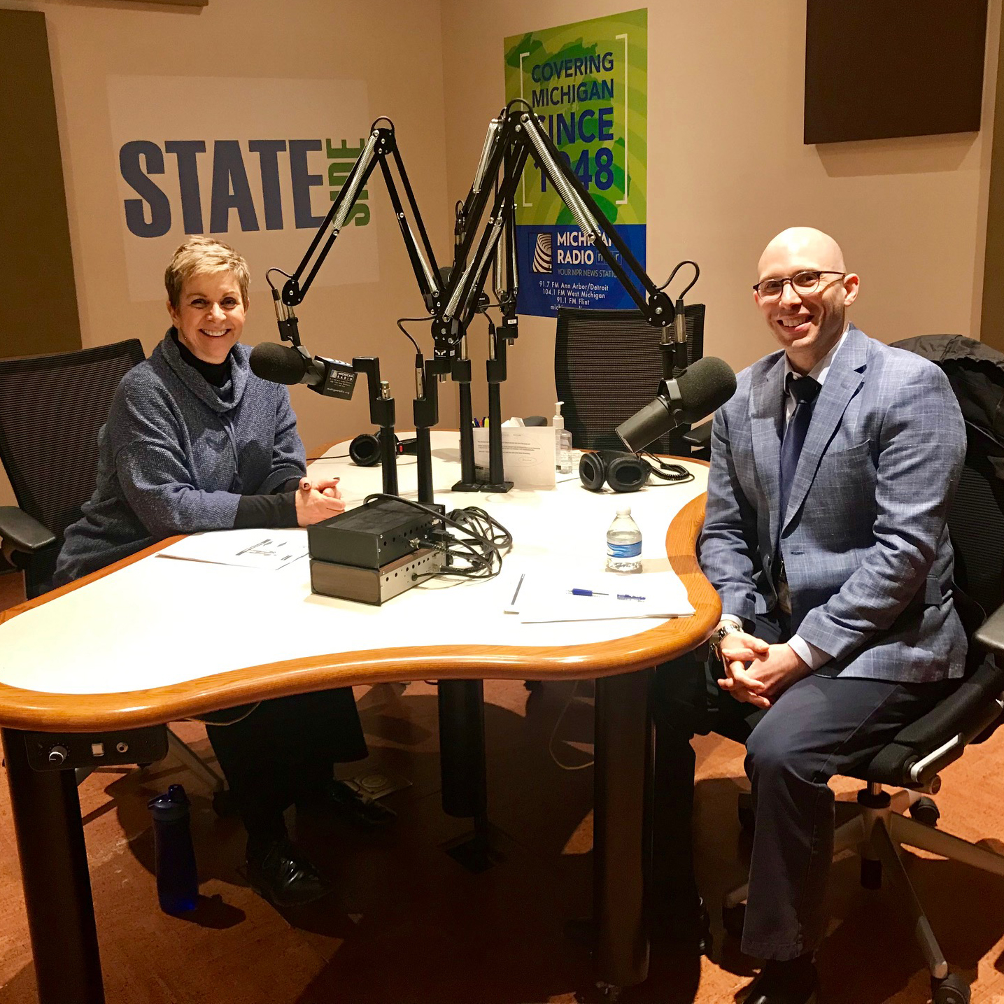 Stephen Goutman, MD, MS, with NPR Cynthia Canty