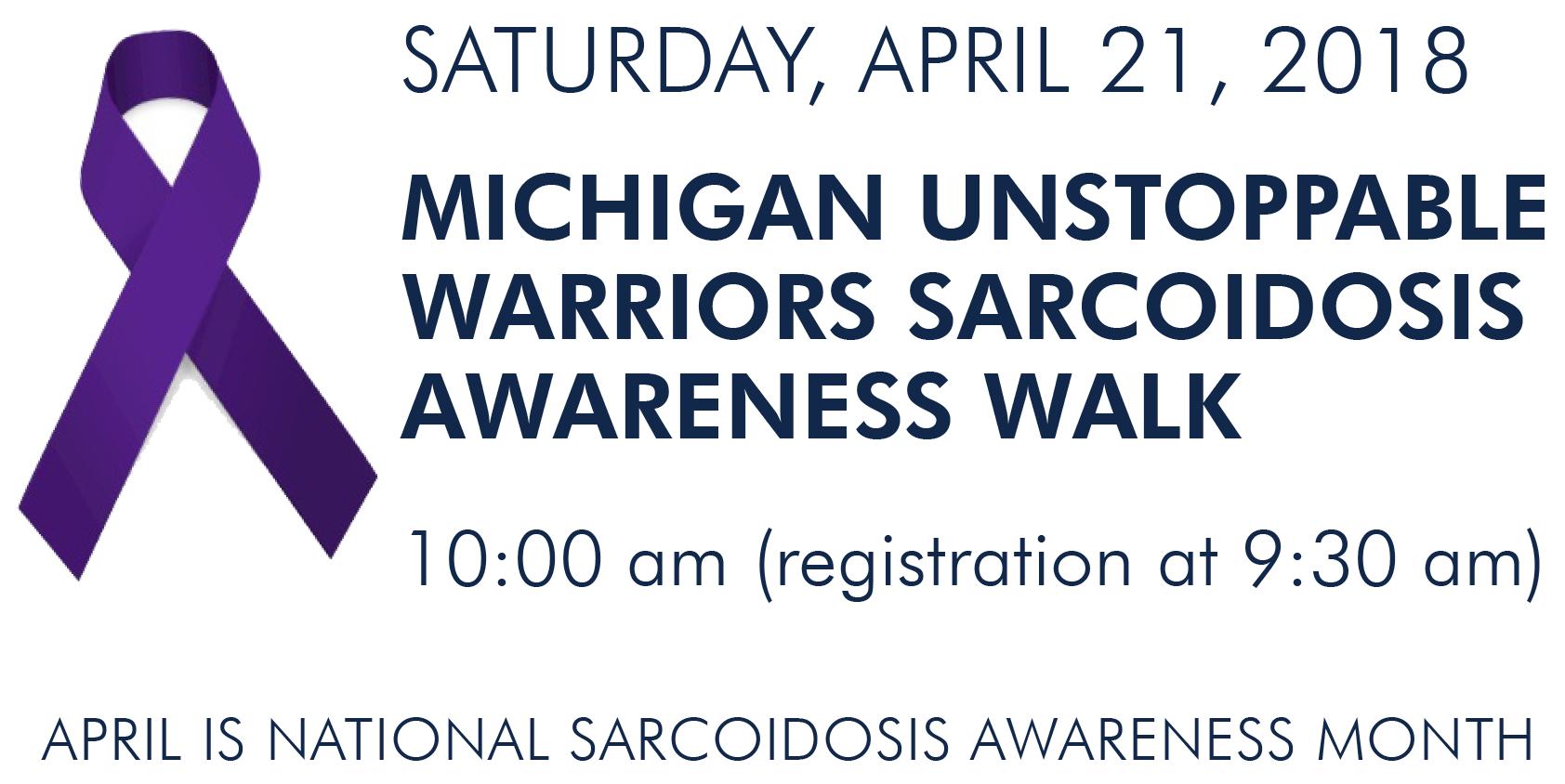 Michigan Unstoppable Warriors Sarcoidosis Awareness Walk
