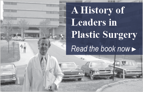 """Button to read the book """"Leaders in Plastic Surgery"""""""