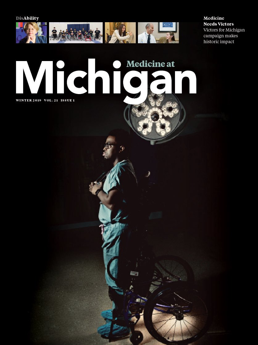 Dr. Okanlami on the cover of Medicine at Michigan magazine