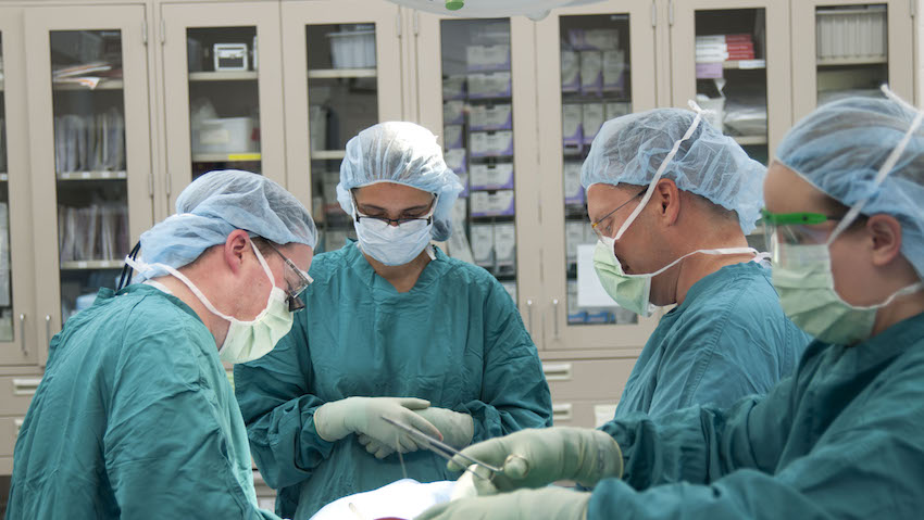 General surgery team in the operating room.