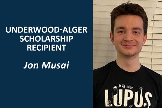 Underwood-Alger Scholarship Recipient - Jon Musai