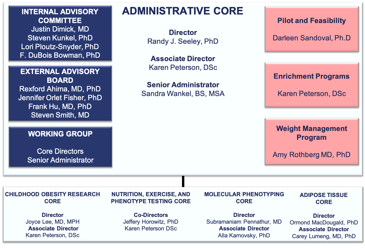 MNORC Core Services Org Chart