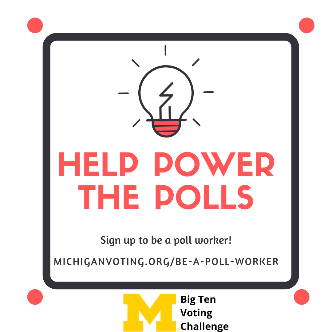 Be a poll worker