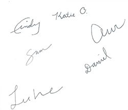 ObGyn resident signatures