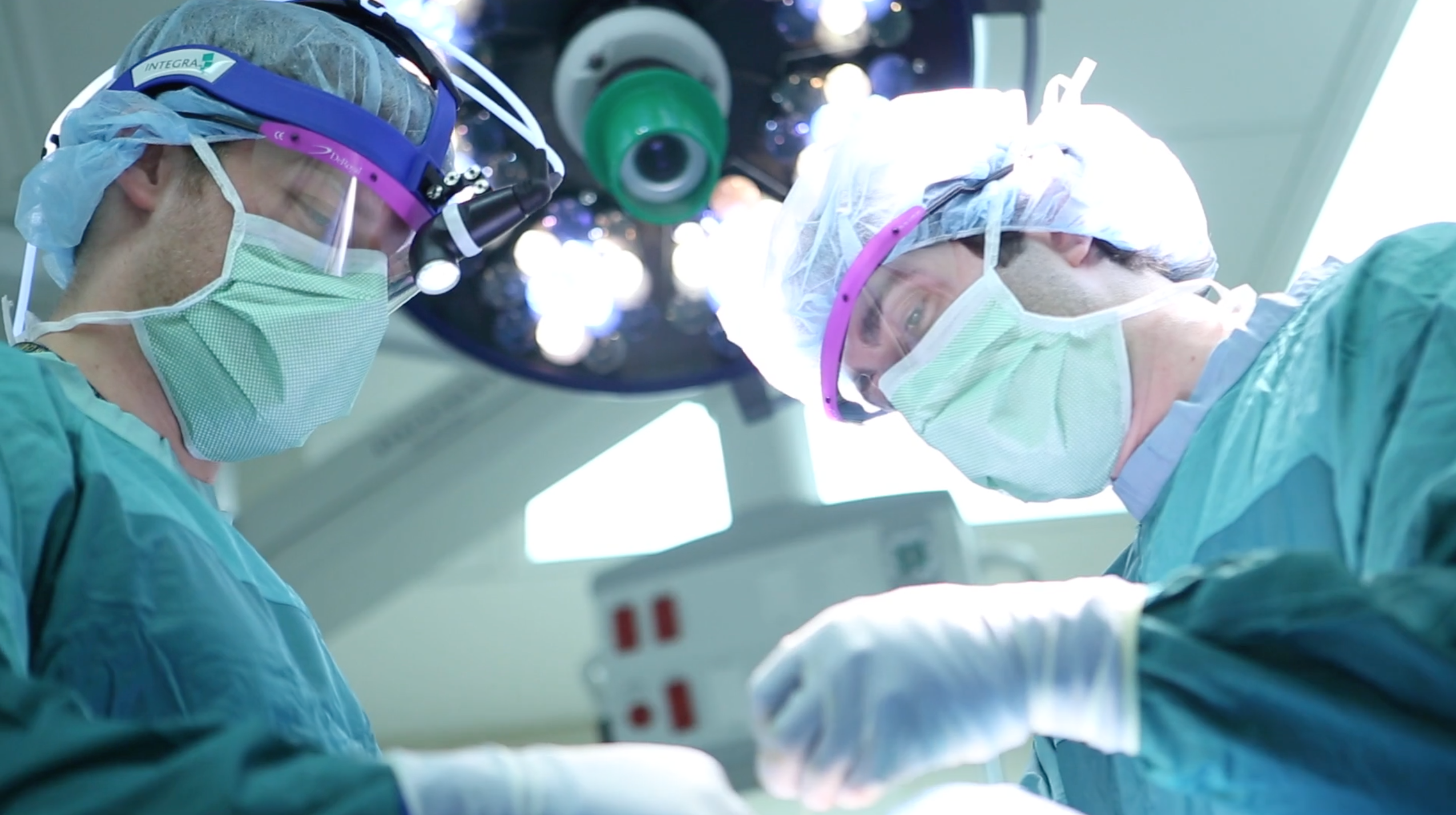 Surgical team members in the operating room
