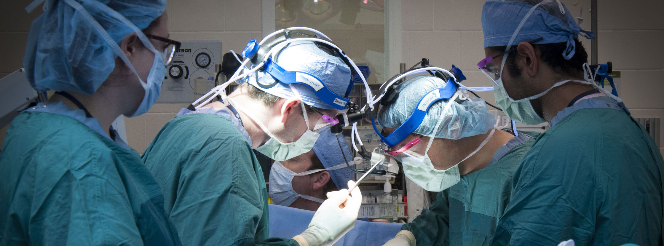 Dr. Chang and team in the operating room