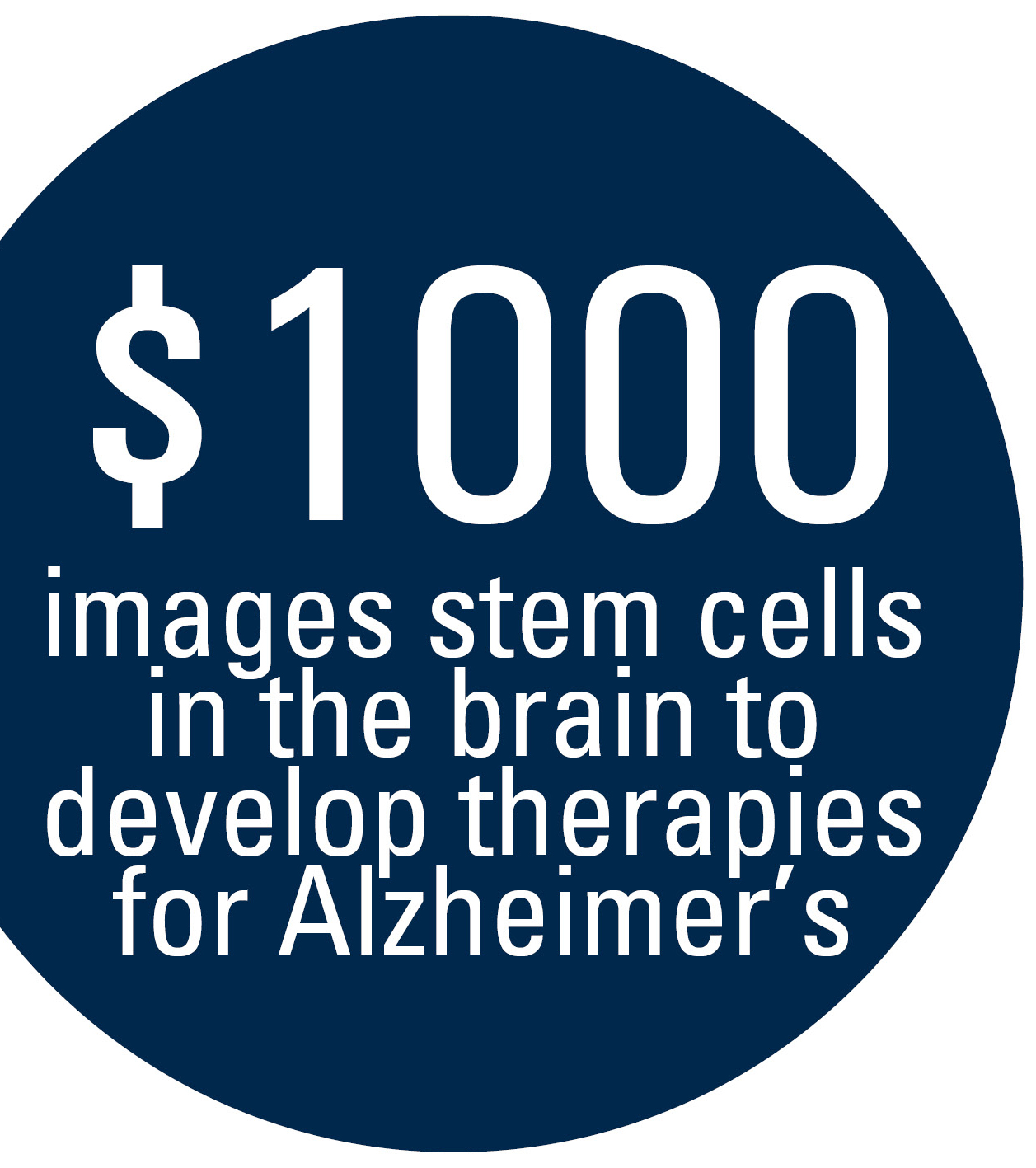graphic explaining what $1000 can do for the NeuroNetwork for Emerging Therapies