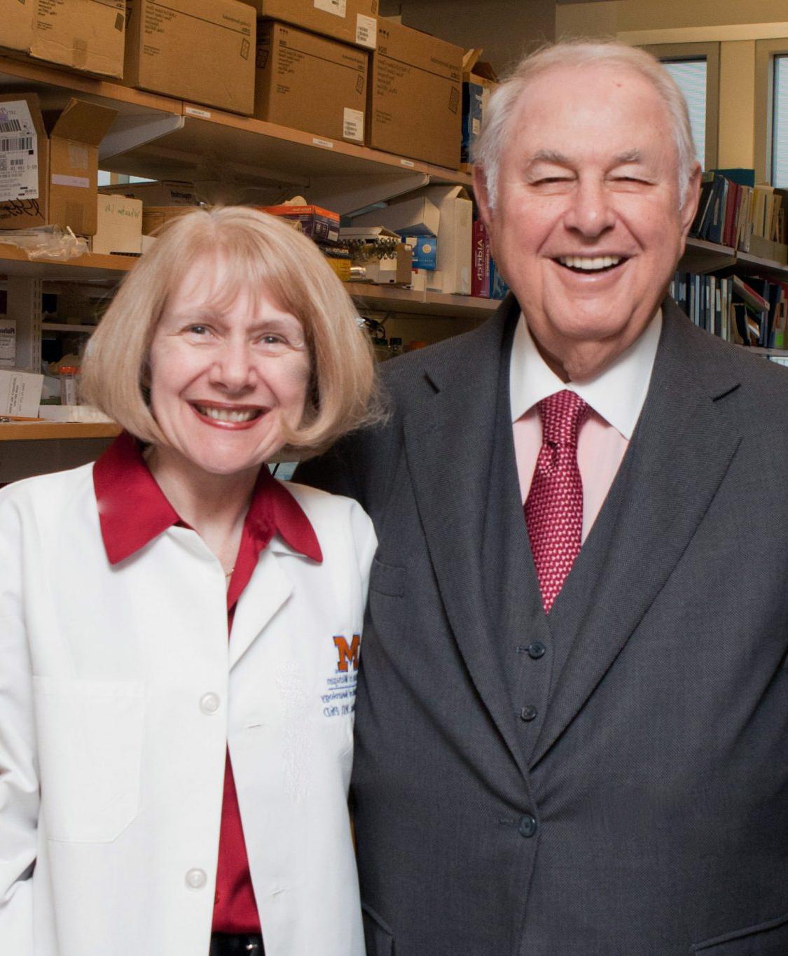 photo of Dr. Eva Feldman and A. Alfred Taubman