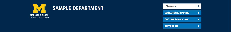 Screenshot of website header quicklink buttons