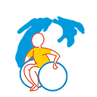 Wheel chair logo with Michigan in background
