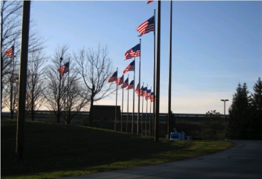 JFHP at Domino's Farms - Flags