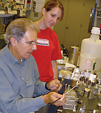 Professor and Student working in a lab