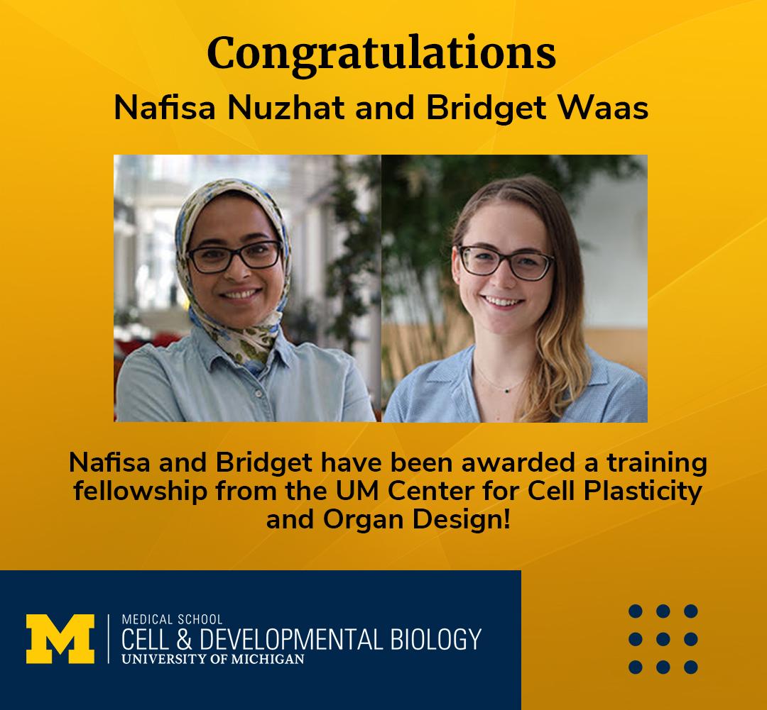 Congrats to CDB Students Nafisa and Bridget