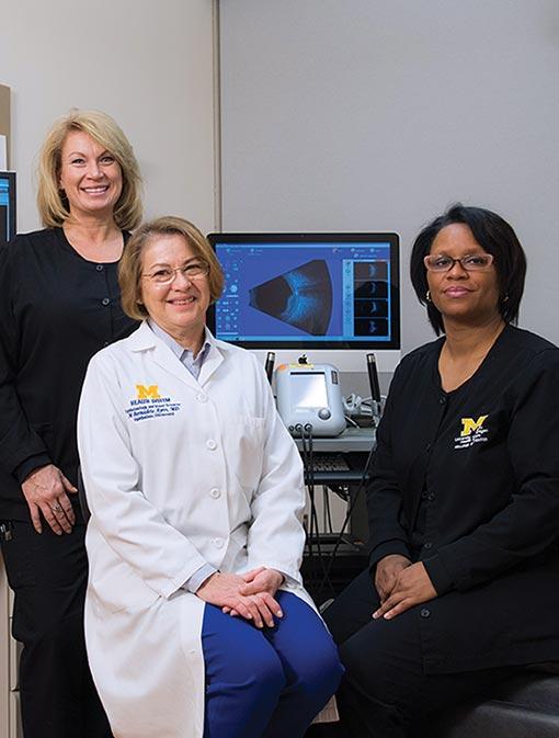 Elizabeth Parrish, COA, Bernadete Ayres, M.D., and Tanya McClendon-Hubbard, COA