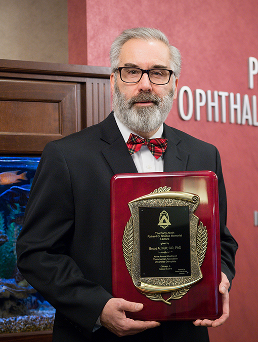 Bruce Furr, CO, PhD, gave the Richard G. Scobee Memorial Lecture at the 2018 American Association of Certified Orthoptists (AACO) meeting