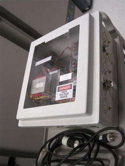 Low temperature freezer emergency switch boxes