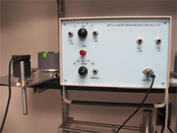 Optokinetic drum motion controller