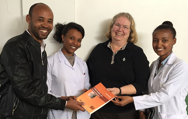 Christine Nelson, MD, Kellogg Faculty with 1st graduating residents from St. Paul's in Addis Ababa, Ethiopia