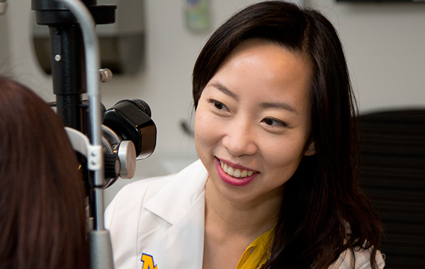 Visiting Faculty Cynthia Qian, MD from Canada, training in retinal dystrophy