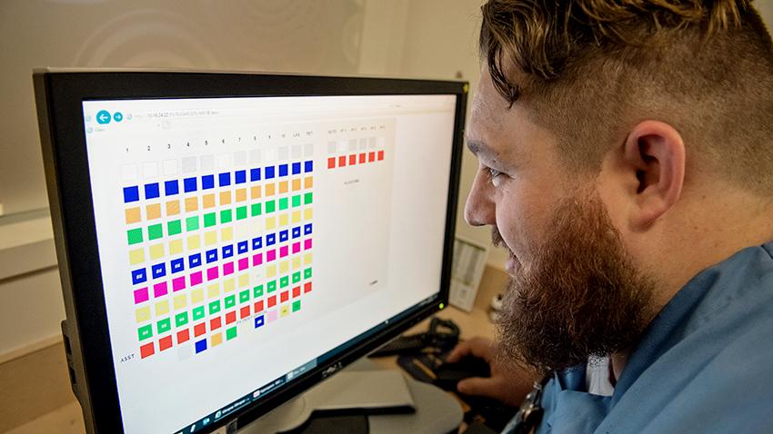 Man viewing computer screen